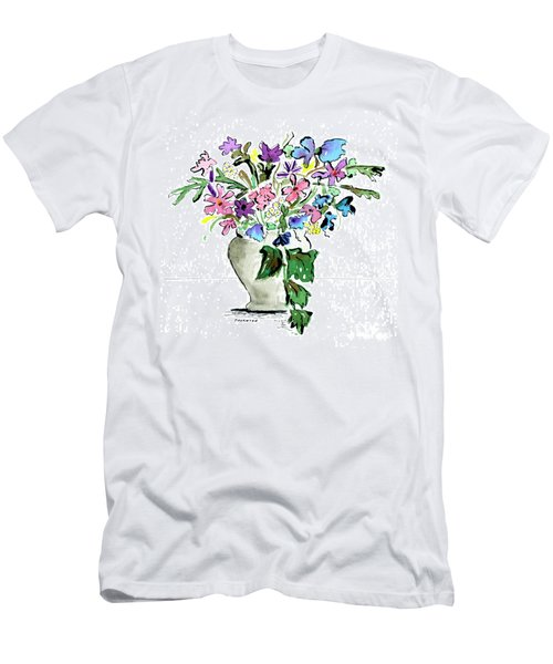 Floral Vase Men's T-Shirt (Athletic Fit)