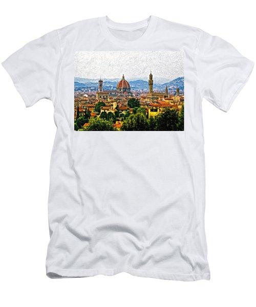 Florence Impasto Men's T-Shirt (Athletic Fit)