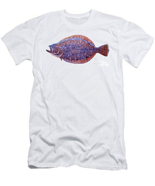 Flounder Men's T-Shirt (Slim Fit) by Carey Chen