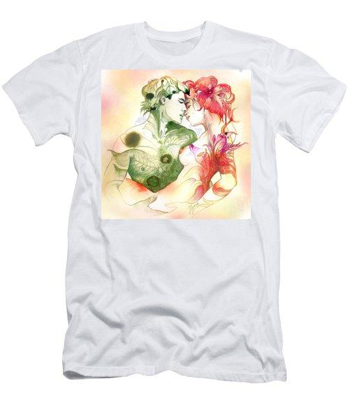 Flower And Leaf Men's T-Shirt (Athletic Fit)