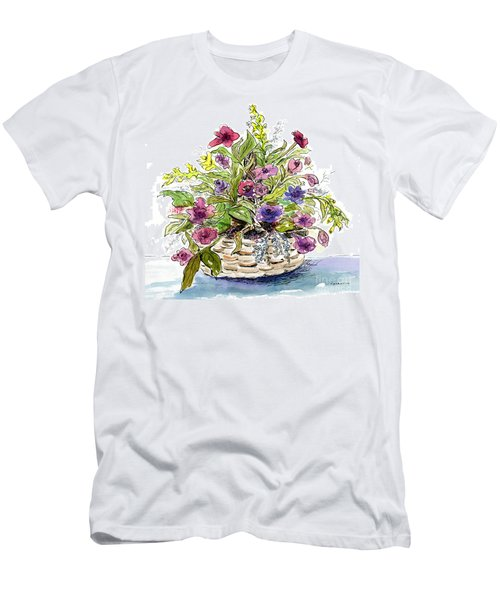 Flower Basket I Men's T-Shirt (Athletic Fit)