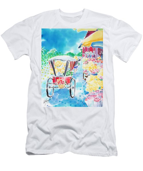 Flower Market  In Chiang Mai Men's T-Shirt (Athletic Fit)