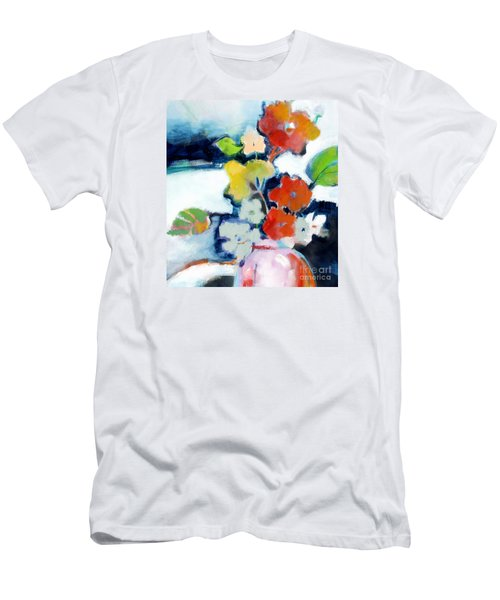 Men's T-Shirt (Slim Fit) featuring the painting Flower Vase No.1 by Michelle Abrams
