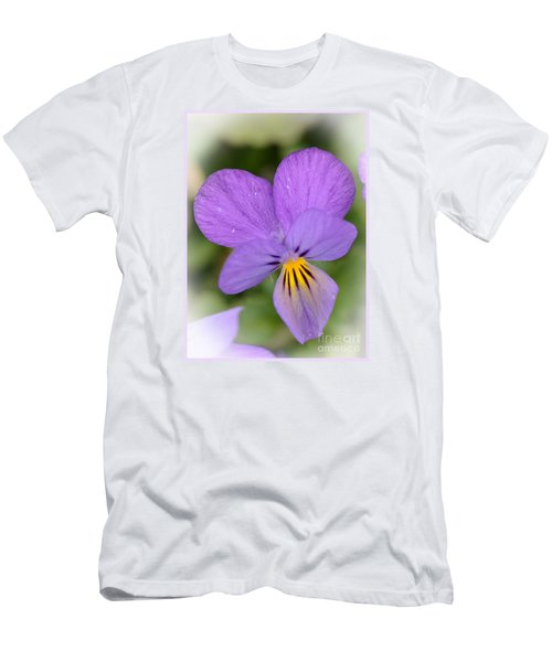 Men's T-Shirt (Slim Fit) featuring the photograph Flowers That Smile by Kerri Farley