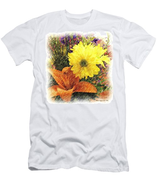Men's T-Shirt (Slim Fit) featuring the photograph Flowers With Love by Luther Fine Art