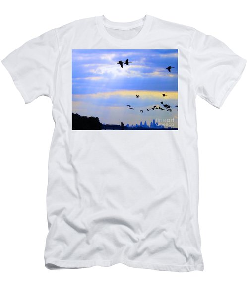 Fly Like The Wind Men's T-Shirt (Athletic Fit)