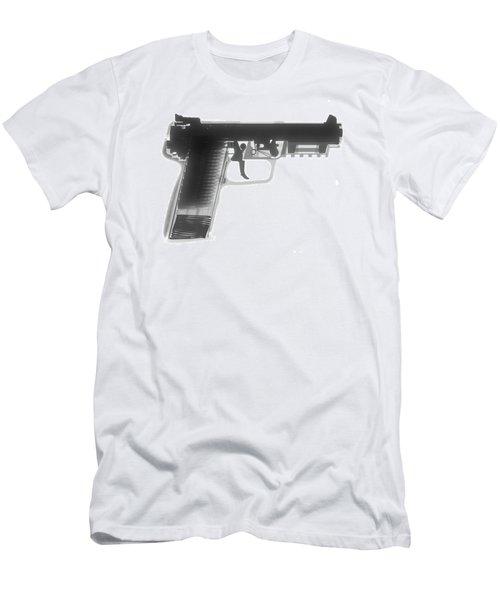 Fn 57 Hand Gun X-ray Photograph Men's T-Shirt (Athletic Fit)