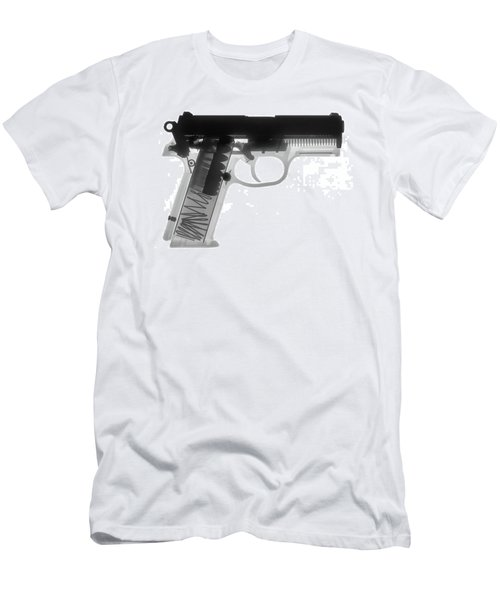 Fn P9a Hand Gun X-ray Print Men's T-Shirt (Athletic Fit)