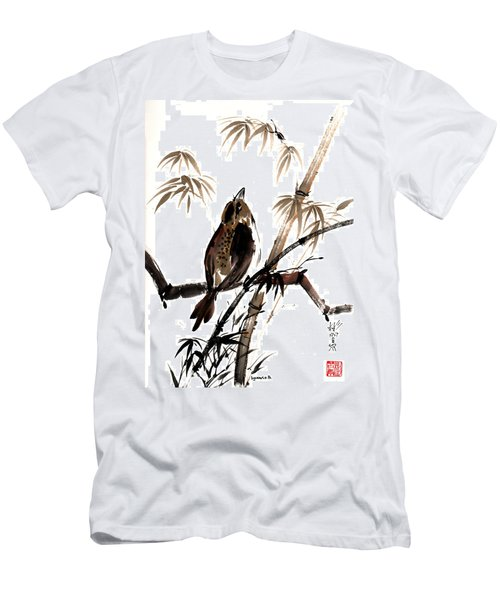 Men's T-Shirt (Slim Fit) featuring the painting Focus by Bill Searle