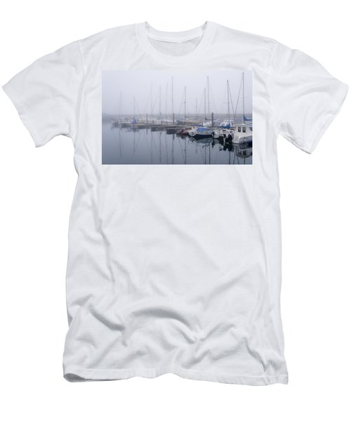 Fog In Marina I Men's T-Shirt (Athletic Fit)