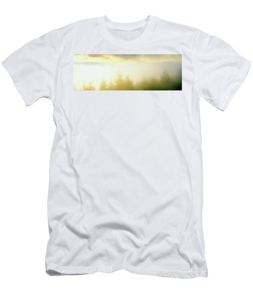 Fog Over Trees, Grasshopper Peak Men's T-Shirt (Athletic Fit)