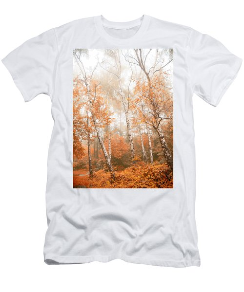 Foggy Autumn Aspens Men's T-Shirt (Athletic Fit)