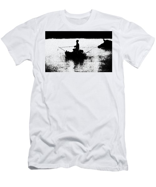 Foggy River Dawn Men's T-Shirt (Athletic Fit)