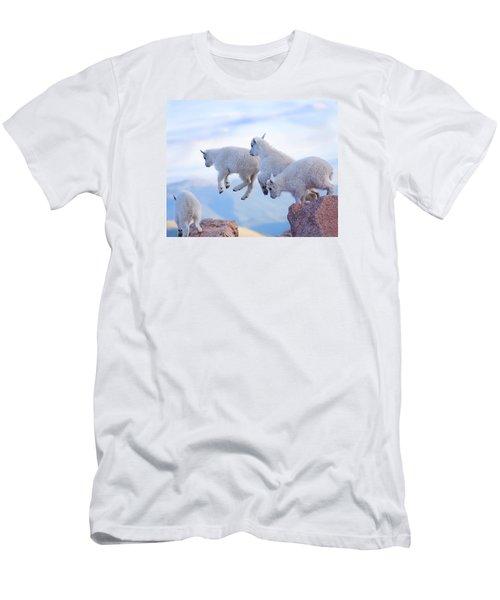 Follow The Leader Men's T-Shirt (Slim Fit) by Jim Garrison