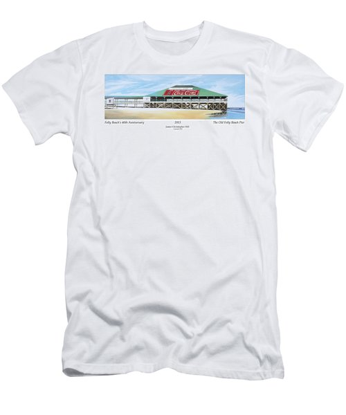 Folly Beach Original Pier Men's T-Shirt (Athletic Fit)