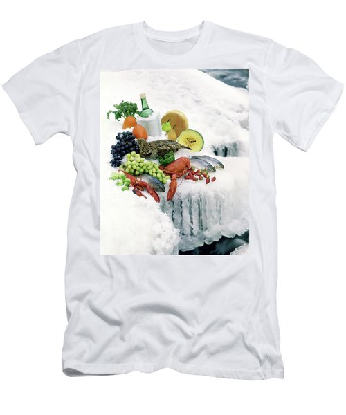 Food On Ice Men's T-Shirt (Athletic Fit)