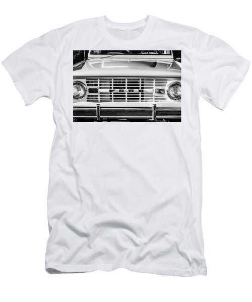 Ford Bronco Grille Emblem -0014bw Men's T-Shirt (Athletic Fit)
