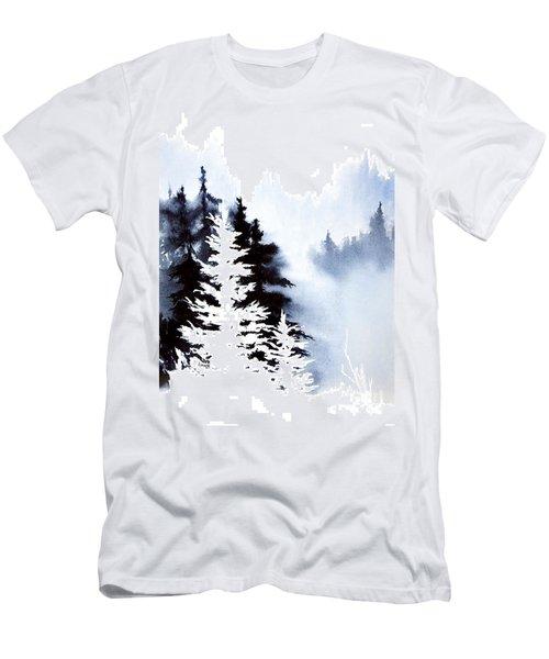 Forest Indigo Men's T-Shirt (Slim Fit) by Teresa Ascone