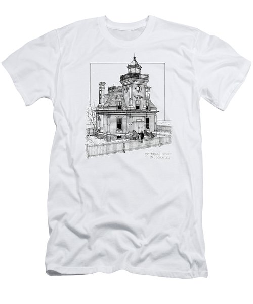 Fort Tompkins Lighthouse Men's T-Shirt (Slim Fit) by Ira Shander