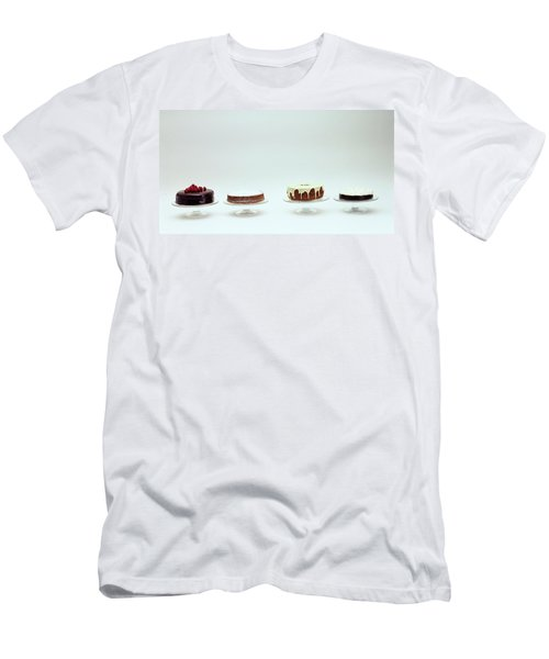 Four Cakes Side By Side Men's T-Shirt (Athletic Fit)