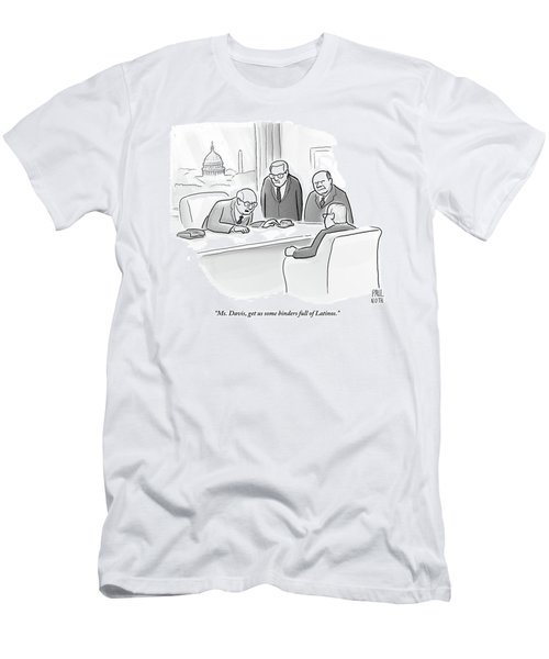 Four Old Washington Bureaucrats Stand Over A Desk Men's T-Shirt (Athletic Fit)
