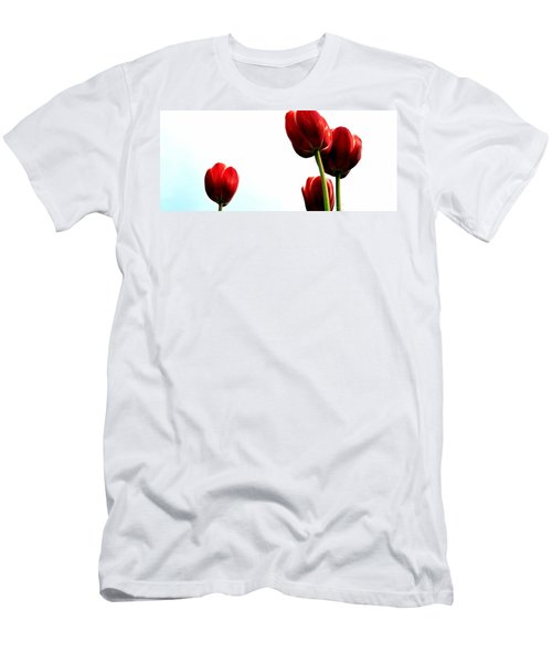 Four Red Tulips Men's T-Shirt (Athletic Fit)