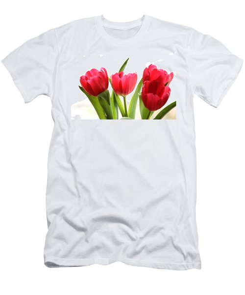 Four Tulips Men's T-Shirt (Athletic Fit)
