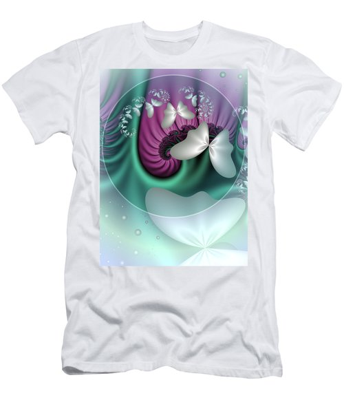 Fractal A Dream Of Butterflies Men's T-Shirt (Slim Fit) by Gabiw Art