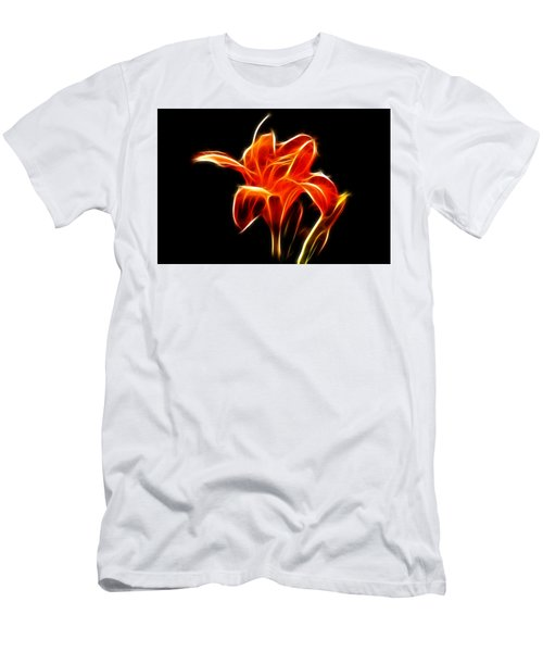 Men's T-Shirt (Slim Fit) featuring the  Fractaled Lily by Bill Barber