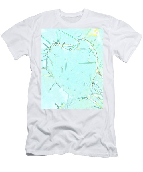 Men's T-Shirt (Slim Fit) featuring the photograph Fragile Heart by Roselynne Broussard