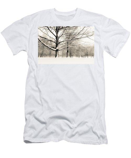 Francis Park In Snow Men's T-Shirt (Athletic Fit)
