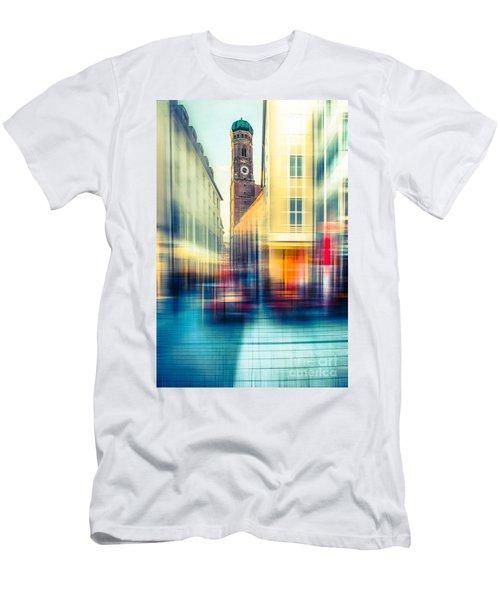 Frauenkirche - Munich V - Vintage Men's T-Shirt (Athletic Fit)