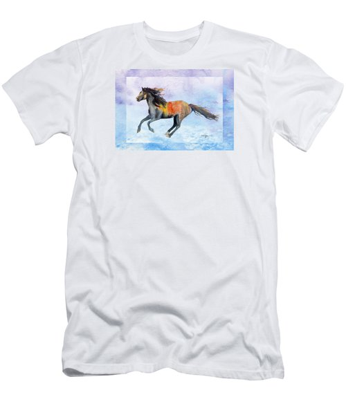Da114 Free Gallop By Daniel Adams Men's T-Shirt (Athletic Fit)
