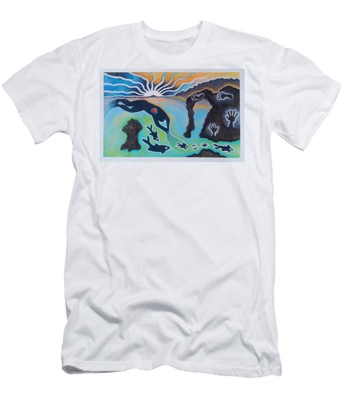 Free Man Off Of Pirates Cove Men's T-Shirt (Athletic Fit)