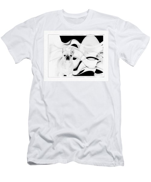 Men's T-Shirt (Slim Fit) featuring the painting French Bulldog by Barbara Chichester