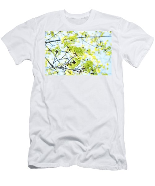 Men's T-Shirt (Slim Fit) featuring the photograph Fresh Spring Green Buds by Brooke T Ryan