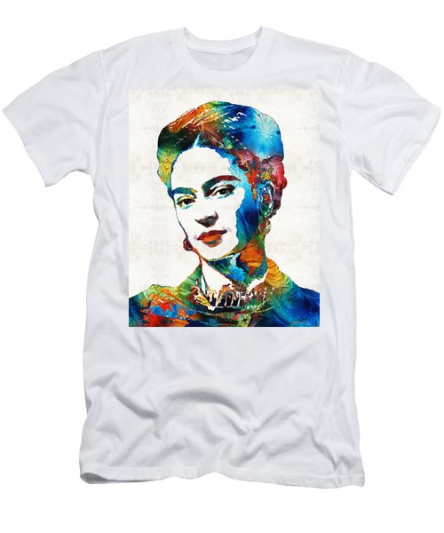 Frida Kahlo Art - Viva La Frida - By Sharon Cummings Men's T-Shirt (Athletic Fit)