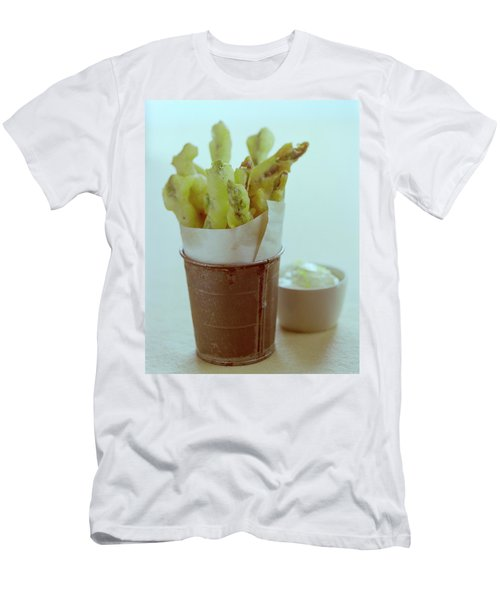 Fried Asparagus Men's T-Shirt (Athletic Fit)