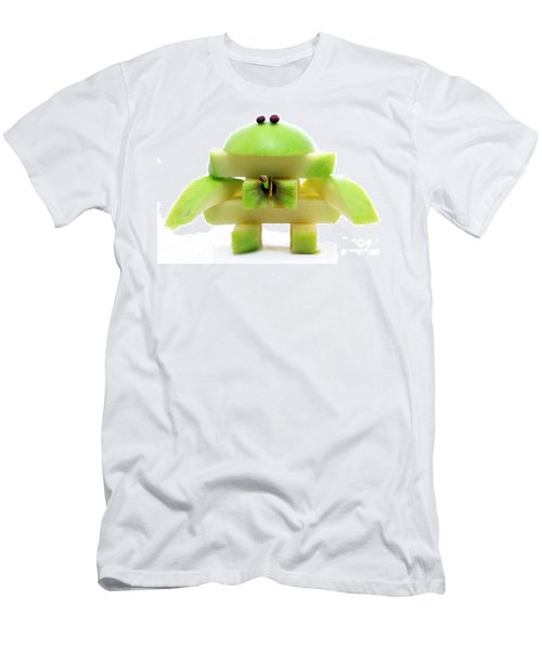 Friendly Apple Monster Made From One Apple Men's T-Shirt (Athletic Fit)