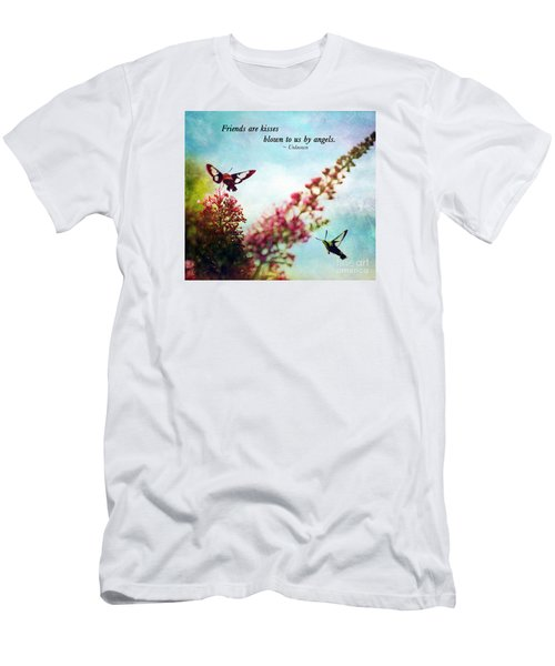 Men's T-Shirt (Slim Fit) featuring the photograph Friends Are .....  by Kerri Farley