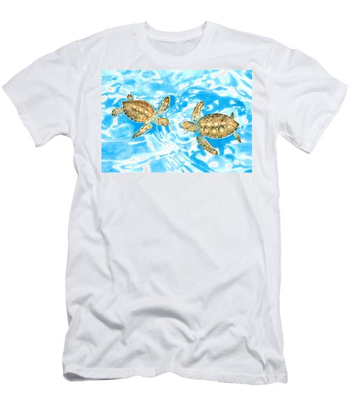 Friends Baby Sea Turtles Men's T-Shirt (Athletic Fit)