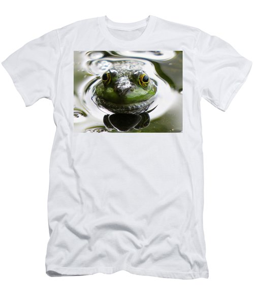 Men's T-Shirt (Slim Fit) featuring the photograph Frog Kiss by Dianne Cowen