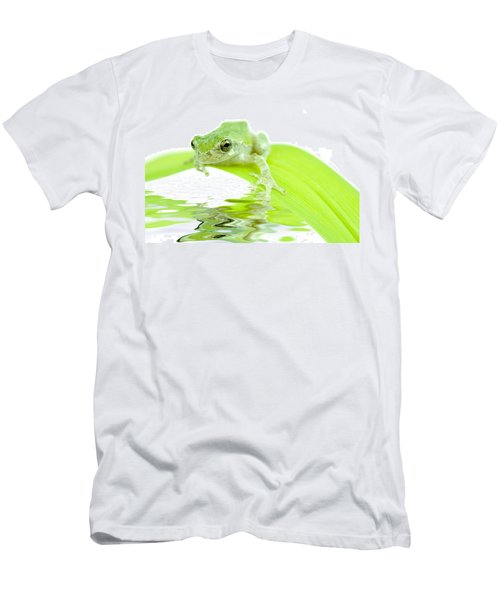 Frog On A Leaf Men's T-Shirt (Athletic Fit)