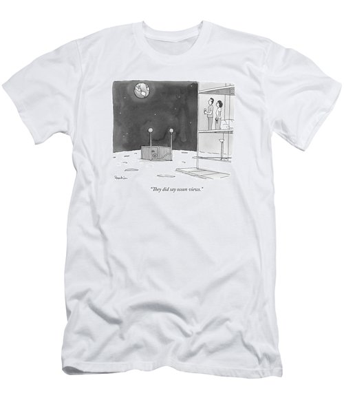 From An Apartment Window On The Moon Men's T-Shirt (Athletic Fit)