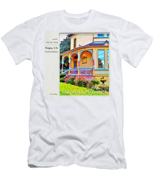 Front Door At La Petite Maison, Napa Men's T-Shirt (Athletic Fit)