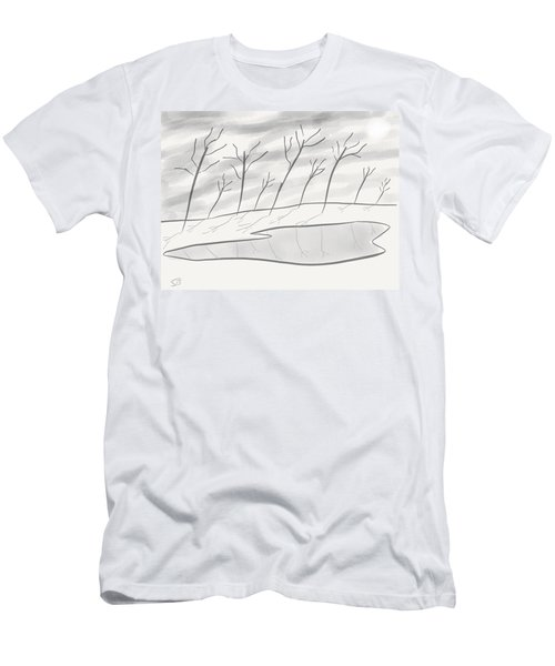 Frozen Landscape Men's T-Shirt (Athletic Fit)