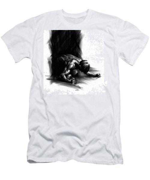 Men's T-Shirt (Slim Fit) featuring the drawing Frustration by Paul Davenport