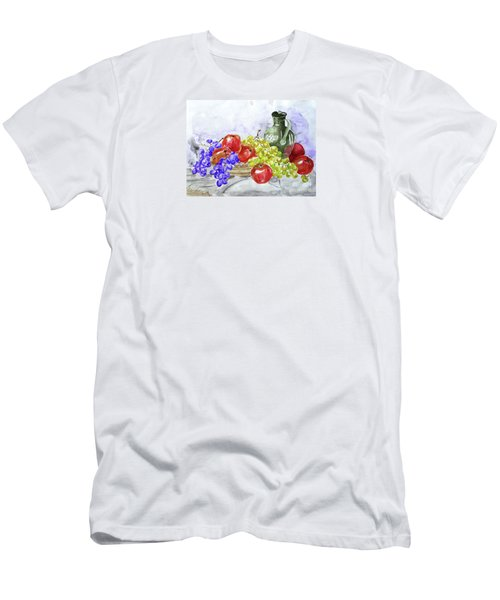 Men's T-Shirt (Slim Fit) featuring the painting Fruit After Him by Jasna Dragun