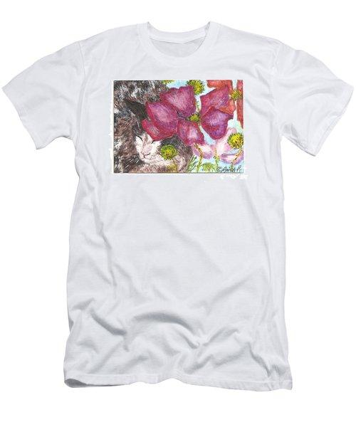 Garden Nap Men's T-Shirt (Slim Fit) by Reina Resto