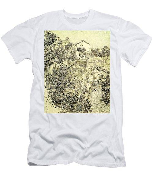 Garden Of Flowers Men's T-Shirt (Athletic Fit)